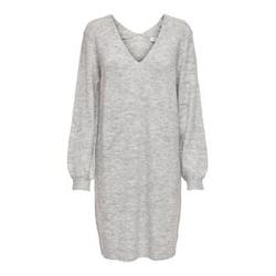 ONLY V-ausschnitt Strickkleid Damen Grau Female XS