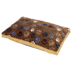 Nobby Komfortkissen eckig Classic Lissi braun, Maße: 140 x 100 x 15 cm