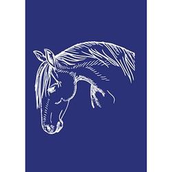 Rayher Siebdruckschablone Pferdekopf blau