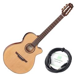 Takamine TSP148NCNS Konzertgitarre natur SET Kabel