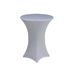 Stehtischhusse, dynamic24, Premium Gastro Stretch Tisch Husse für Stehtische Ø 60-70cm Bistrotisch Stehtisch Überwurf Tischdecke grau