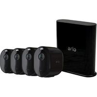 Arlo Kabelloses Sicherheitssystem Pro 3 Black mit 4 Kameras VMS4440B