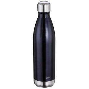 Cilio 543469 Elegante Isoliertrinkflasche, 18/10 Stahl, 750 milliliters, grau