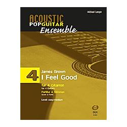 I Feel Good  für 4 Gitarren  Partitur + Stimmen. James Brown  - Buch