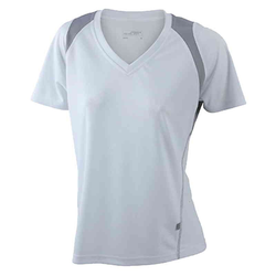 Damen Laufshirt weiß/silber