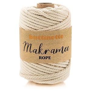 """buttinette Makramee-Garn """"Rope"""", natur, 3-fach verzwirnt, Stärke: 5 mm, Länge: 55 m"""