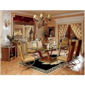 4x Stuhl Barock Rokoko Stühle Echtes Metall Luxus Designer Stuhl Set Garnitur