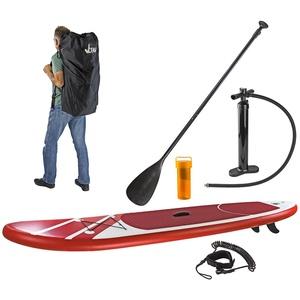 SUP Stand-Up-Paddle-Board / Surfboard Rot,  305 x 81 cm, bis 110kg, mit Zubehör
