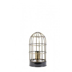 Casa Padrino Tischleuchte Schwarz 14 x H 25 cm - Leuchte - Tischleuchte
