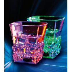 JOKA international Whiskyglas LED Farbwechsel-Whiskeyglas, 2er Set (2-tlg), PS, ABS