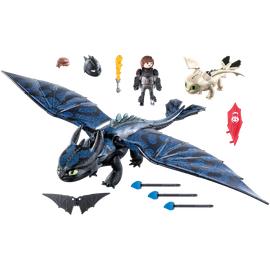 Playmobil Dragons Hicks und Ohnezahn mit Babydrachen