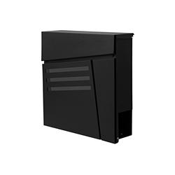 MCW Briefkasten MCW-B28, Zylinderschloss, Inkl. 2 Schlüsseln und Montagematerial schwarz