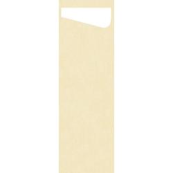 DUNI Sacchetto Serviettentaschen Airlaid SLIM, Praktische Bestecktasche, 1 Karton = 4 x 60 Stück = 240 Stück, champagne