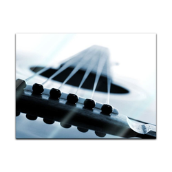 Bilderdepot24 Glasbild, Glasbild - Gitarrenkorpus 60 cm x 40 cm