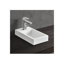 neu.haus Aufsatzwaschbecken, Ypern Waschbecken Handwaschbecken für Gäste WC 40x22cm weiß weiß 40 cm x 7 cm x 22 cm