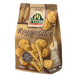 Preiss Originale Roggentaler - Roggen-Minis mit Kümmel und Fenchel, 200g