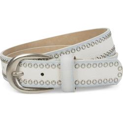 styleBREAKER Nietengürtel Gürtel mit Lochnieten Gürtel mit Lochnieten weiß 100cm