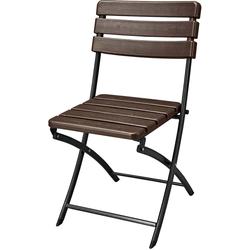 2x Garten Stühle Klapp-Stuhl Veranda Hof Terrasse braun Höhe 83 cm
