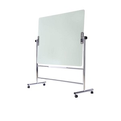 Bi-Office mobile Glas-Magnettafel 120,0 x 90,0 cm weiß