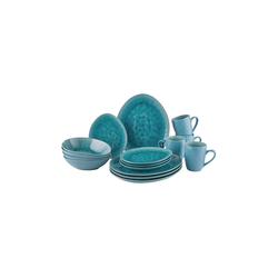 BUTLERS Schale DE LA ROYA 16-tlg. Geschirr-Set, Steinzeug blau