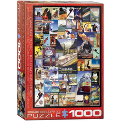 empireposter Puzzle Kanadische Reisewerbung - Vintage Art - 1000 Teile Puzzle im Format 68x48 cm, 1000 Puzzleteile