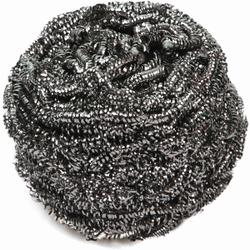 HYGOSTAR® Edelstahl-Spiral-Topfreiniger silber, Topfreiniger kraftvoll und langlebig, 1 Packung = 10 Stück, 40 g