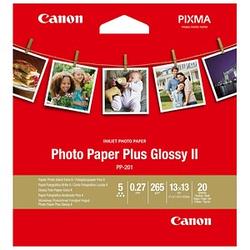 Canon Fotopapier PP-201 13,0 x 13,0 glänzend 265 g/qm 20 Blatt