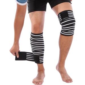 Doact Kniebandage Knee Wraps für Sport, 2 Stück Elastische Knie Bandagen Knieschützer für Meniskus Knie für Damen und Herren, Anti-Rutsch Kompression Knieorthese für Kraftsport Fitness Gewichtheben