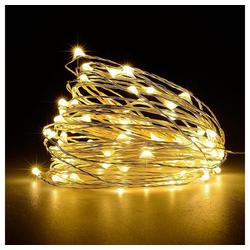 TOPMELON Lichterkette, 2M / 3M / 5M / 10M, Wasserdichte, Dekorative leichte Kette gelb 10 m