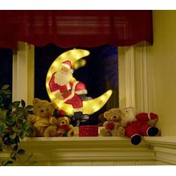 Konstsmide 2860-010 LED-Fensterbild Weihnachtsmann LED Bunt mit Schalter