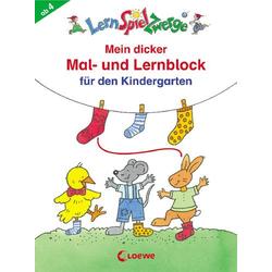 Lernspielzwerge Schreibblock Mein dicker Mal- und Lernblock Kiga