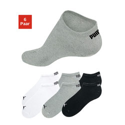 PUMA Sneakersocken (6 Paar) grau Damen Sportsocken Socken Damenwäsche