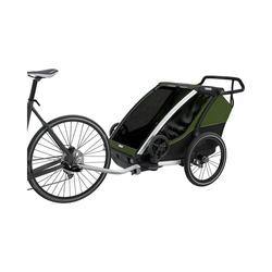 Thule Fahrradkindersitz Fahrradanhänger Chariot Cab 2, grau/grün grün