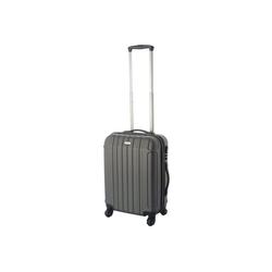 Cahoon Handgepäck-Trolley Hartschalen-Trolley Handgepäck Trolley / Bordgepäck Koffer 4-Rollen, 4 Rollen grau