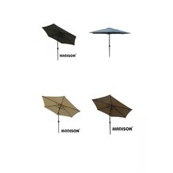 Madison TENERIFE Sonnenschirm Kurbelschirm rund Ø 300cm knickbar anthrazit
