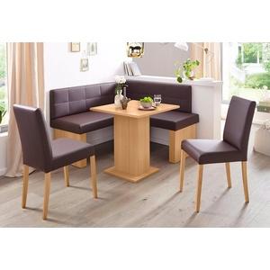 SCHÖSSWENDER Eckbankgruppe Anna 2, (Set, 4-St), mit 2 Stühlen mit massiven Gestell natur
