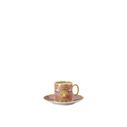 Rosenthal meets Versace Tasse Versace Scala Palazzo Rosa Kaffeetasse 2 teiliig (2-tlg), Porzellan
