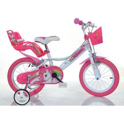 Dino Kinderfahrrad EINHORN, 1 Gang weiß Kinder Kinderfahrräder Fahrräder Zubehör Fahrrad