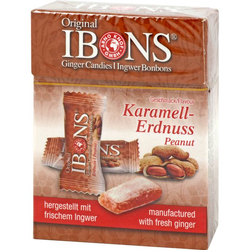 IBONS Karamell-Erdnuss Ingwerkaubonbons Orig.Scha. 60 g