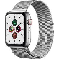 Apple Watch Series 5 GPS + Cellular 44 mm Edelstahlgehäuse, Milanaise Armband