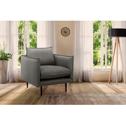 INOSIGN Sessel Somba, mit dickem Keder und eleganter Optik braun