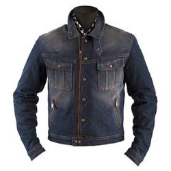 Helstons Cannonball Dirty Motorrad-Jeansjacke blau 08