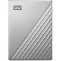 Western Digital My Passport Ultra for Mac 2TB USB-C 3.0 silber ( 	 WDBKYJ0020BSL-WESN)