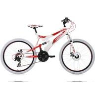KS-CYCLING Topeka 24 Zoll RH 41 cm weiß/rot