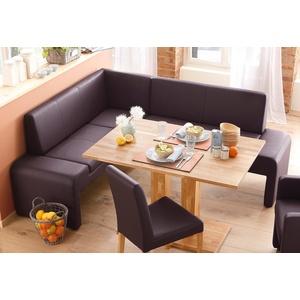 Home Affaire Sitzbank »Bologna«, braun, Kunstleder, Langer Schenkel rechts, T: 46cm, Langer Schenkel rechts, FSC®-zertifiziert