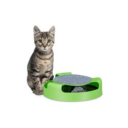 relaxdays Tier-Kugelbahn Katzenspielzeug Kugelbahn mit Maus, PP