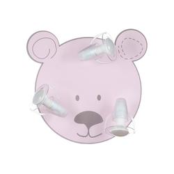 Waldi-Leuchten Deckenleuchten Deckenleuchte Bär, rosa, 3-flg. rosa