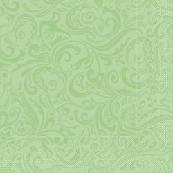 "Mank Tissue Servietten Ornaments ""LIAS"", 40 x 40 cm, 1/4 Falz, 3-lagig, 1 Karton = 6 x 100 Stück = 600 Servietten, pistazie"