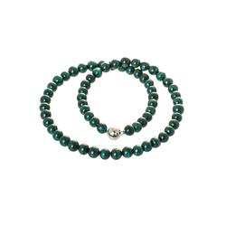 Bella Carina Perlenkette Malachit 8 mm, echtes Malachit 55 cm