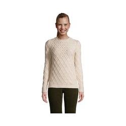 Pullover im Baumwollmix mit Noppenstrick, Damen, Größe: 48-50 Normal, Pink, by Lands' End, Kristall Pink-Meliert Marl - 48-50 - Kristall Pink-Meliert Marl